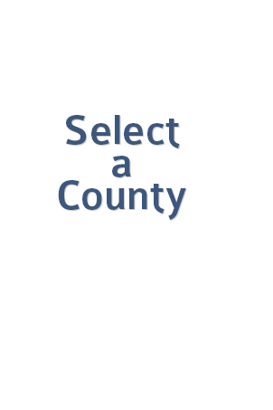 Map overlay that says 'Select a County' and disappears when map is hovered